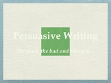 Persuasive writing text powerpoint