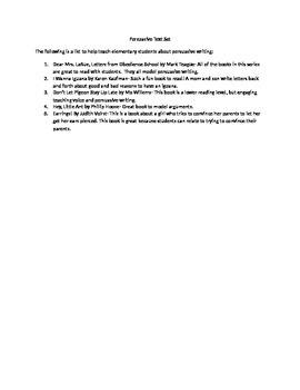 Persuasive writing text set