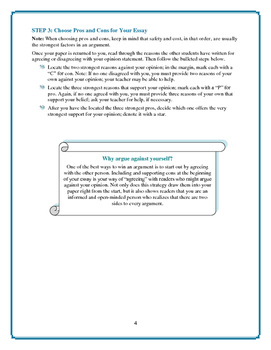 Persuasive Essays: 6-Step Prewriting Process—Great Preparation!