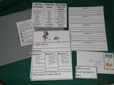 Persuasive/Opinion Writing-Literacy Center- file folder game-expressive writing