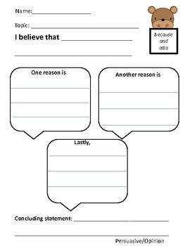 Persuasive/Opinion Writing Organizer