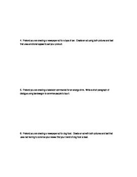 Persuasvie Technique Practice - Using Rhetorical Devices to Persuade