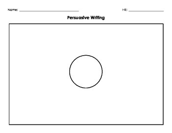 Persuasive Writing Organizer - Entire process for lower and higher levels