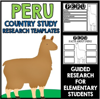 Peru Country Study Research Project Templates