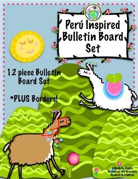 Perú Bulletin Board Set Printable Spanish Classroom Decoration