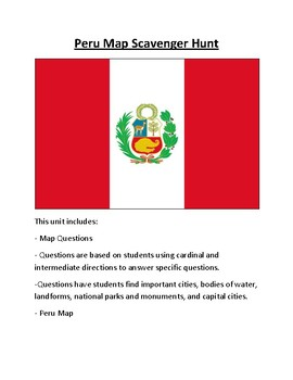 Peru Map Scavenger Hunt