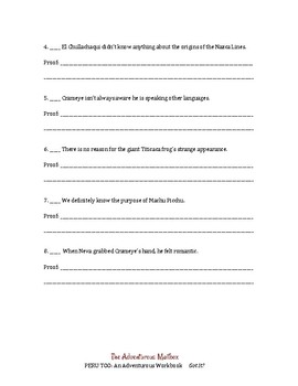 Peru Too: Got It? ~ Reading comprehension workbook and lessons