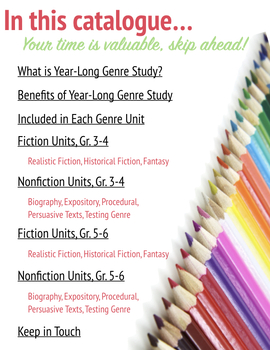 Perusing Guide: Year Long Genre Study, Learn About Genre Study, FREEBIE
