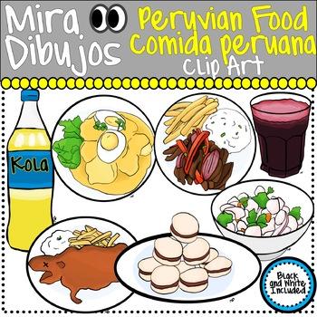 Peruvian Food Clip Art Comida Peruana By Mira Dibujos Clip Art Tpt