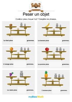 Peser un objet 2 -Utiliser une balance pour connaître le poids d'un objet