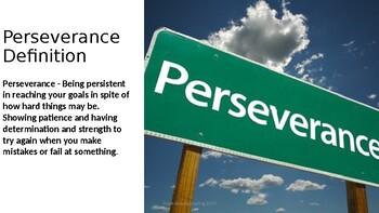 Peserverance Character Trait