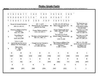 Pesky Sand Gnats Facts, A Commutative Property of Addition Baseball Puzzle