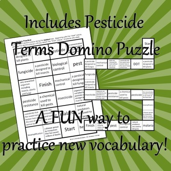 Pesticides - PowerPoint, Note, Homework, Domino Puzzle and Quiz [EDITABLE]