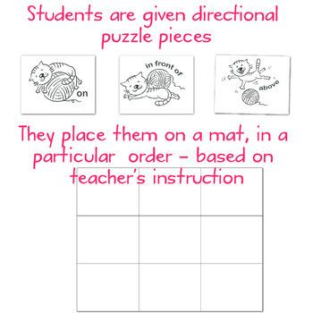 Pet Activity Prepositions, Directional, Positional Words - Preschool & Kinders
