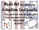 Pet Adoption Certificate End of the Year Gift
