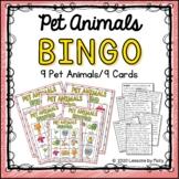 Pet Animals Bingo