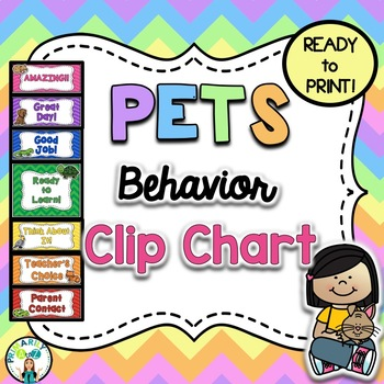 Pet Behavior Clip Chart