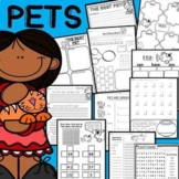 PETS!  Opinion & Fact Writing, Math, Graphic Organizers, Nouns, Verbs & More