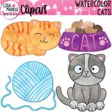 Pet Cat Clipart Watercolor
