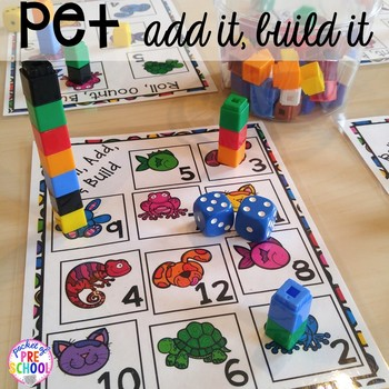 Pets Math And Literacy Centers For Preschool Pre K And