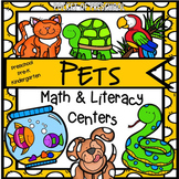 Pets Math and Literacy Centers for Preschool, Pre-K, and Kindergarten