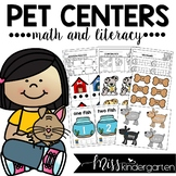 Pet Centers for Math and Literacy for Kindergarten