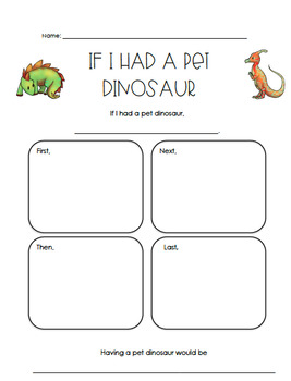 Pet Dinosaur Writing Graphic Organizer
