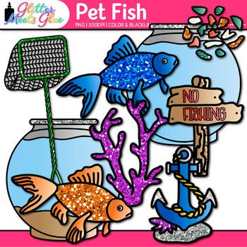 Pet Fish Clip Art | Aquarium Sea Life, Sea Shells, Castle for Under the Sea