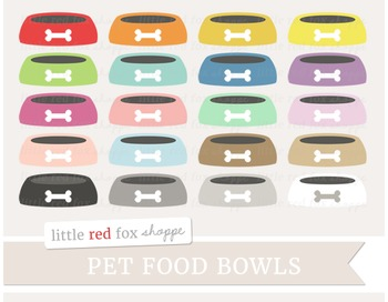 Pet Food Bowl Clipart; Dog, Cat, Animal