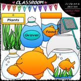 Pet Goldfish - Clip Art & B&W Set