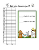 Pet Graphing Activity