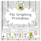 Pet Graphing Printables for Preschool, Kindergarten, and Early Grades