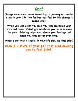 Pet Grief Student Memory Workbook