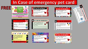 Pet I.D's for students and families