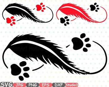 pet love infinity silhouette svg clipart cat dog puppy paw wings