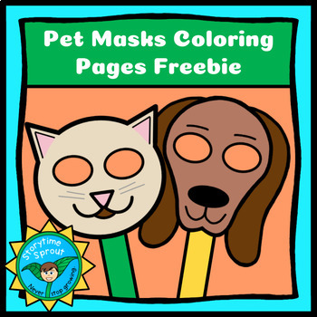Pet Masks Coloring Pages Freebie Cat Dog By Storytime Sprout