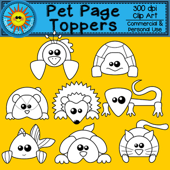 Pet Page Topper Clip Art