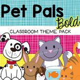 Pets Animal Classroom Decor - Bold Colors {Editable}