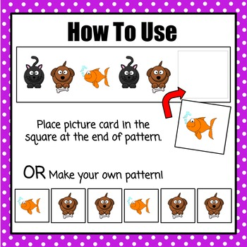 Patterns: Pet Pattern Cards