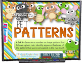 Pet Patterns PowerPoint Game (CCSS 4.OA.5)
