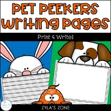 Pet Peekers Writing & Craft Pages