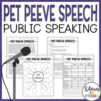 Pet Peeve Speech- Complete lesson plan with example speech outline!