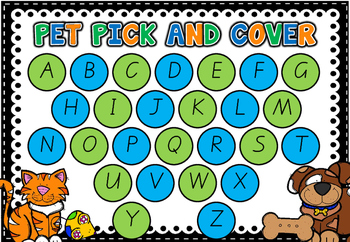 Pet Pick and Cover - Alphabet Literacy Centre