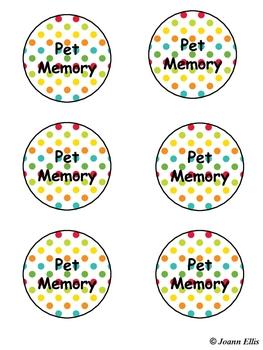 Pet Pocket Chart Matching