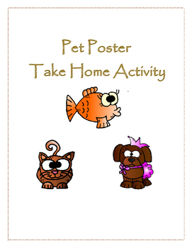 Pet Poster: A Take Home Activity