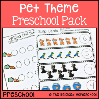 Pet Preschool Pets Pack - Handwriting, Counting, ABC's, and more!