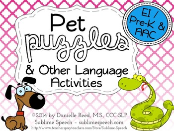 Pet Puzzles and Other Language Activities