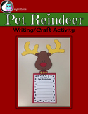 Pet Reindeer Writing Craft Activity