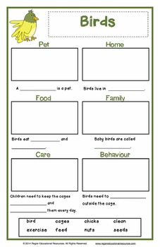 Pet Writing - Pet Report Posters