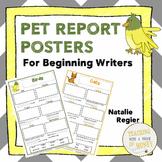 Informational Writing Templates | Pet Writing | Pet Reports | Beginning Writing